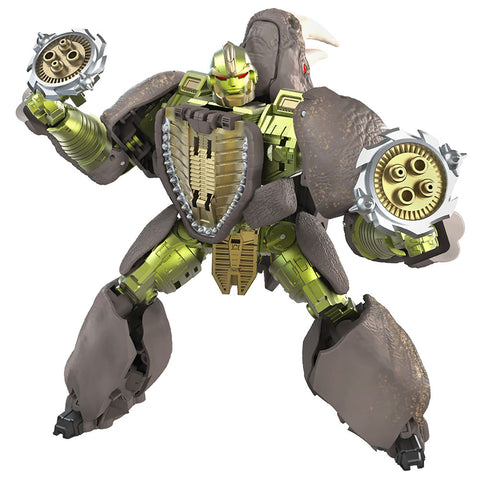 Transformers War for Cybertron Kingdom WFC-K27 Voyager Rhinox beast wars robot toy render