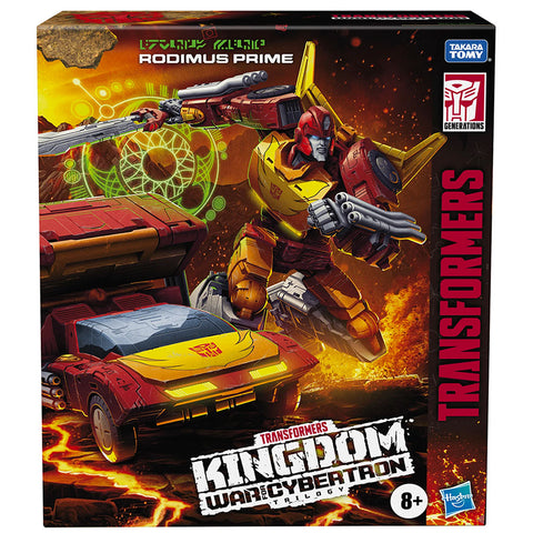 Transformers War for Cybertron Kingdom WFC-K29 Commander Rodimus Prime box package front