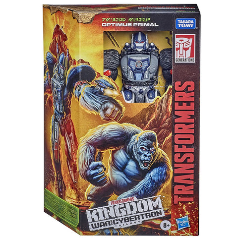 Transformers War for Cybertron WFC-K8 Voyager Optimus Primal Box Package Front