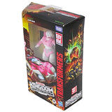Transformers War for Cybertron WFC-K17 Deluxe Arcee box package top angle