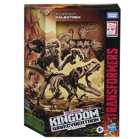 Transformers War for Cybertron Kingdom WFC-K7 Deluxe Paleotrex fossilizer box package front
