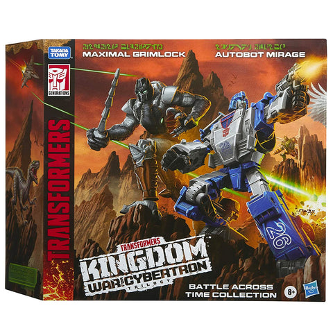 Transformers War for Cybertron Kingdom WFC-K40 Battle Across Time Collection Maximal Grimlock Deluxe Autobot Mirage amazon exclusive box package front