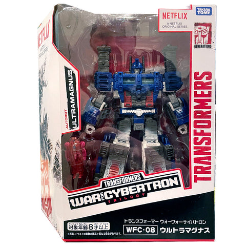 Transformers War for Cybertron Netflix TakaraTomy Japan WFC-08 Leader ultra Magnus box package front