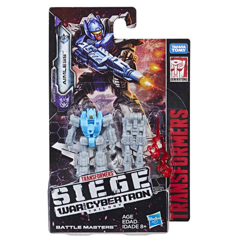 Transformers War For Cybertron Siege WFC-S17 Battlemaster Aimless package card