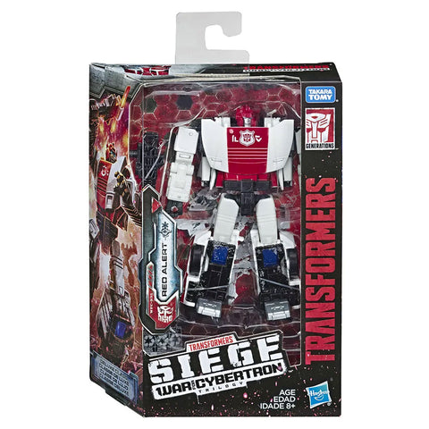 Transformers War for Cybertron Siege WFC-S35 Deluxe red Alert box package