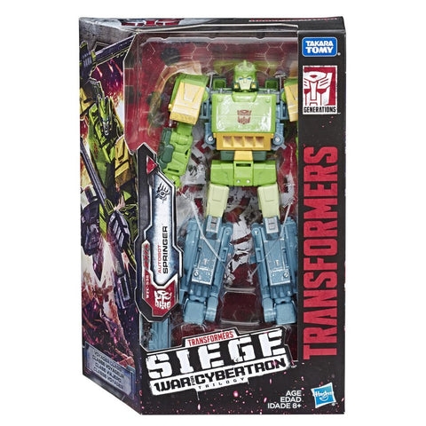 Transformers War Cybertron Siege WFC-S38 Voyager Springer Box Package