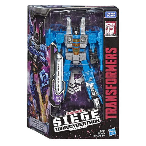Transformers War for Cybertron Siege WFC-S39 Voyager Thundercracker Box Packaging