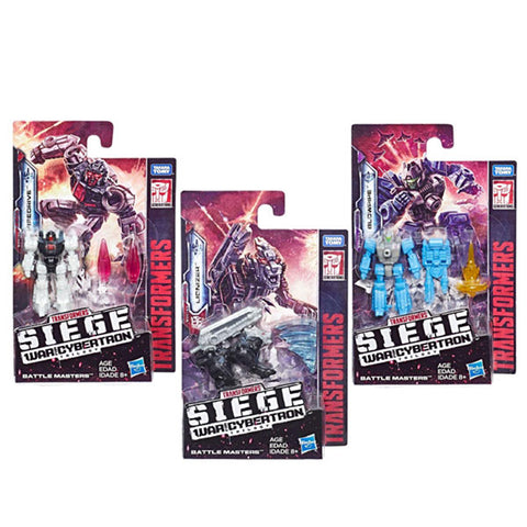 Transformers War for Cybertron Siege Wave 1 Battlemaster bundle of 3