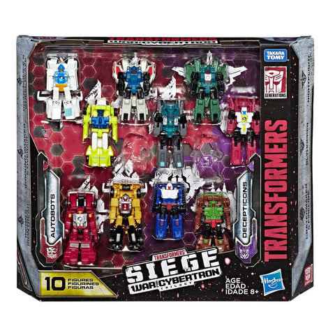 Transformers War for Cybertron Siege Micromasters Autobots vs Decepticons 10-pack exclusive Box Package