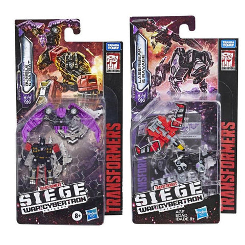 Transformers War for Cybertron Siege Micromaster Cassetticons ratbat rumble ravage laserbeak box package front