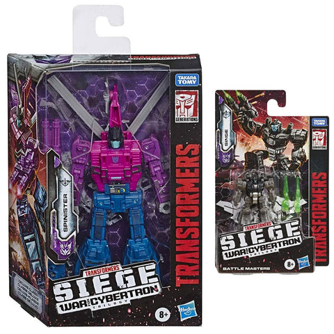 Transformers Siege WFC-S Spinister & Singe - 2 Figure Bundle