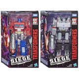 Transformers War Cybertron Siege Wave 1Voyager Optimus Prime & Megatron Package Box
