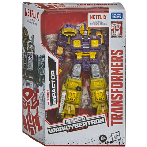 Transformers War for Cybertron Trilogy Netflix Walmart Deluxe Autobot Impactor Box Package Front