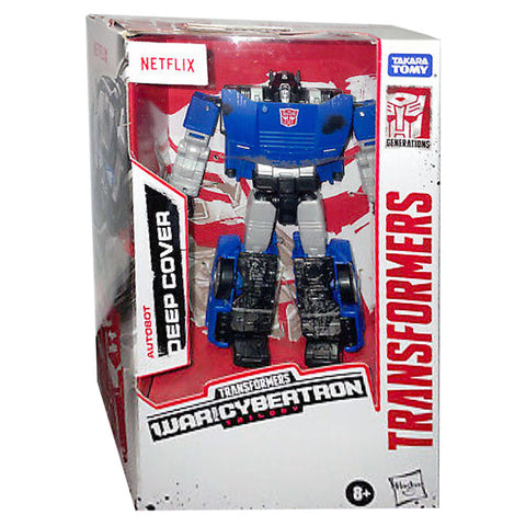Transformers Netflix War for Cybertron Trilogy Walmart Deluxe Deep Cover Box Package front photo