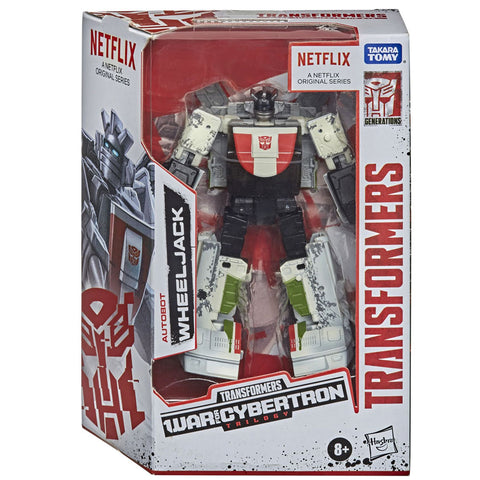 Transformers War for Cybertron Trilogy Netflix Walmart deluxe Wheeljack box package front