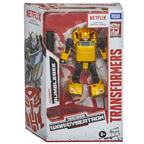 Transformers War for Cybertron Trilogy Netflix Earthrise Deluxe Bumblebee box package front walmart