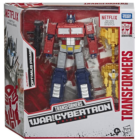 Transformers War for Cybertron Trilogy Netflix Walmart Voyager Optimus Prime box package front