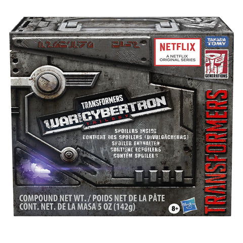 Transformers War for Cybertron Trilogy Netflix Walmart Leader Decepticon Spoiler Battle Worn Nemesis Prime box package front