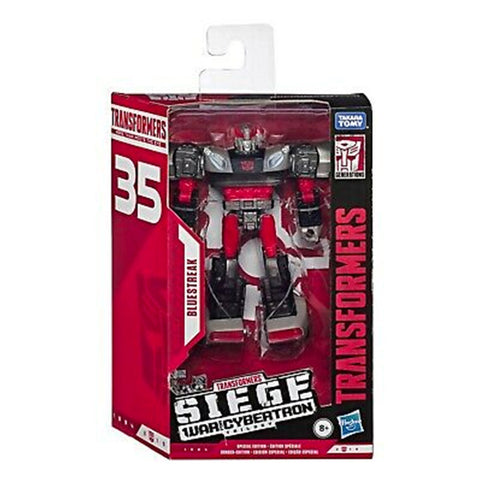 Transformers 35th Anniversary Siege Deluxe Bluestreak Box mockup