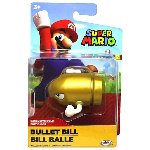 Jakks Pacific World of Nintendo Gold Bullet Bill exclusive box package front