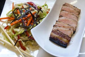 Asian Marinated Pork Belly with Asian Slaw