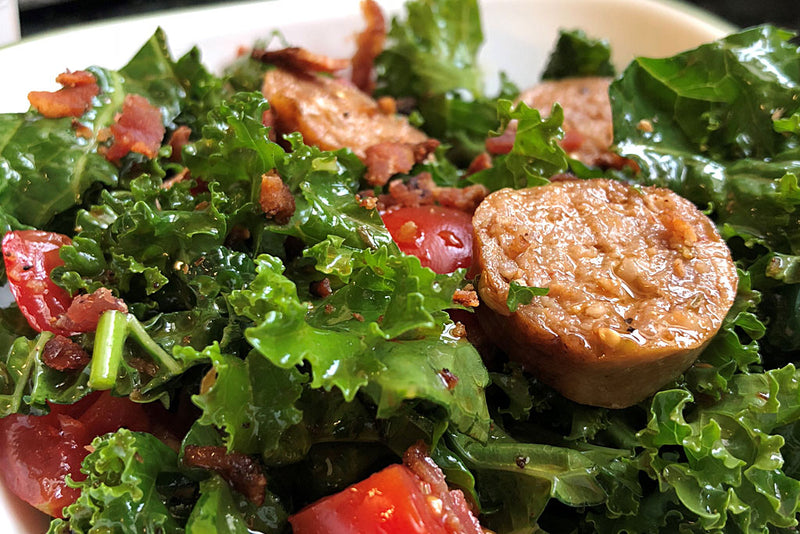 Summer Kale Salad With Berkshire Sausage