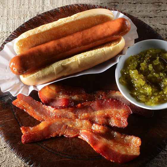 Berkshire Nitrate-Free Uncured Bacon Hot Dog