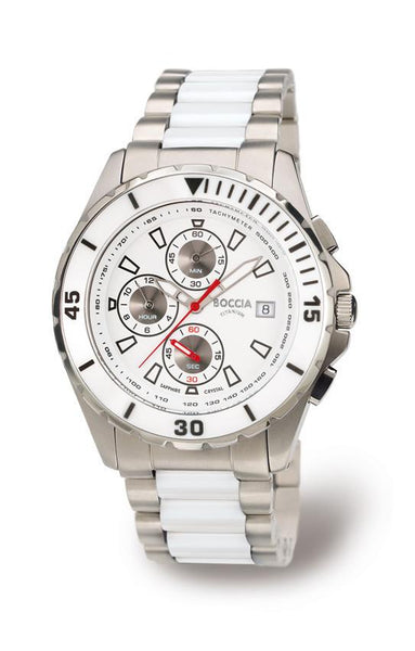 3766-03 Mens Boccia Titanium Chronograph Watch