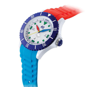40Nine Extra-Large 50mm FUN Watch in Red & Blue