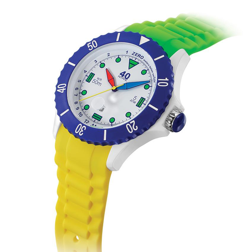40Nine Extra-Large 50mm Green & Yellow FUN Watch
