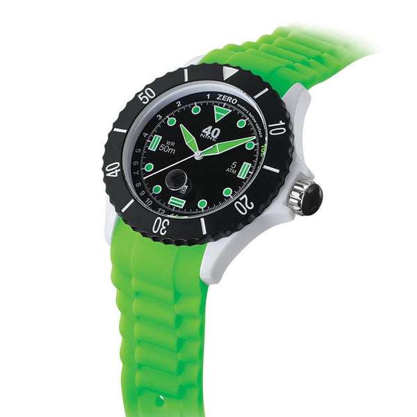 40Nine Extra-Large 50mm Green & Black Watch