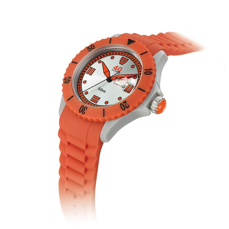 40Nine Extra Large 50mm Orange Watch