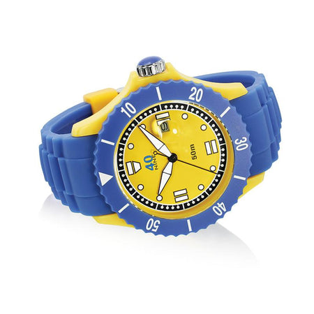 40Nine Extra Large 50mm Periwinkle & Yellow Watch
