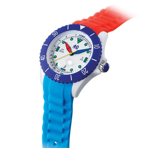 40Nine Large 45mm Red & Blue FUN Watch
