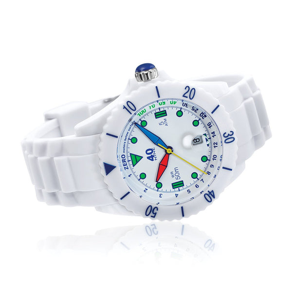 40Nine Large 45mm White FUN Watch