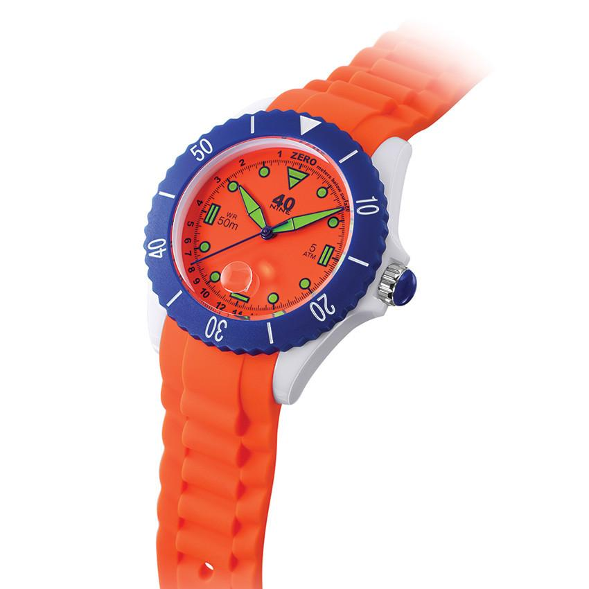 40Nine Large 45mm Orange Watch