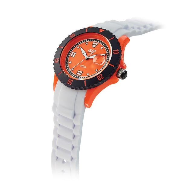 40Nine Medium 40mm White & Orange Watch