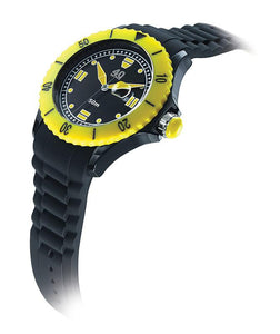 40Nine Extra Large 50mm Black & Yellow Watch