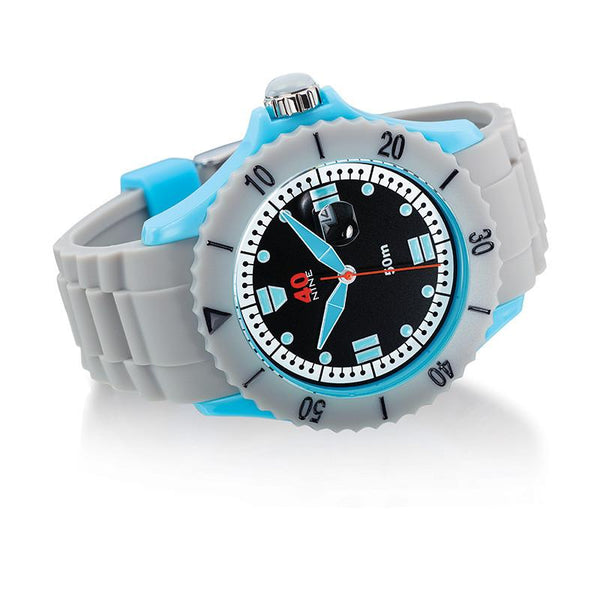 40Nine Extra Large 50mm Grey & Blue Watch