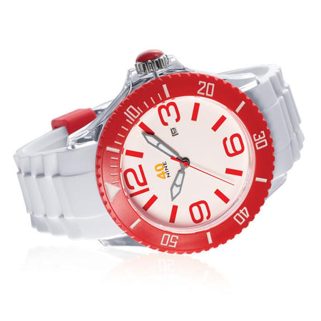 40Nine Extra Large 50mm Red Watch