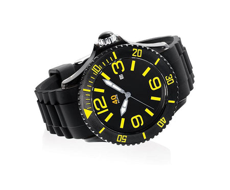 40Nine Medium 40mm Black & Yellow Watch