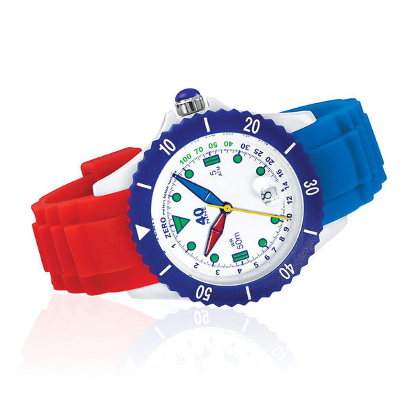 40Nine Medium 40mm FUN Blue & Red Watch