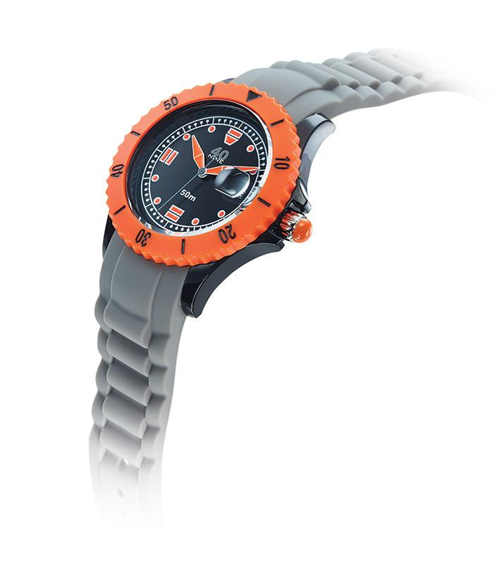 40Nine Medium 40mm Grey & Orange Watch
