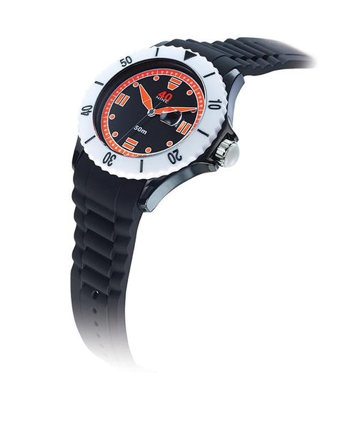 40Nine Extra Large 50mm Black & Orange Watch