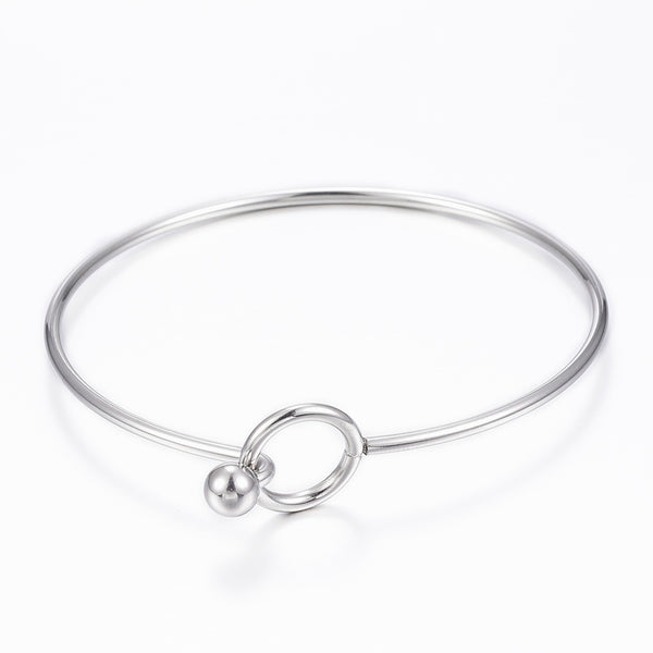 Stainless Steel Bangle Squeeze Bracelet