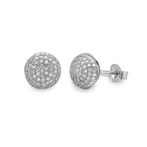 EWE140755 Sterling Silver Round Stud Earrings