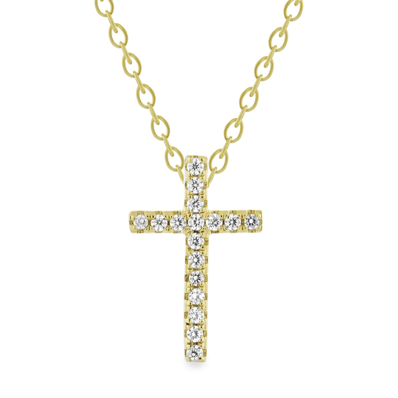 EWP120175Y-XS GP Cross Pendant Necklace