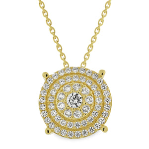 EWP140201Y GP Sterling Silver Pendant Necklace