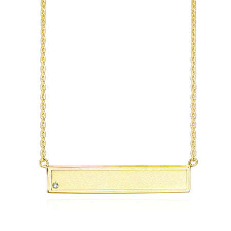 EWP150025Y GP Sterling Silver ID Pendant Necklace