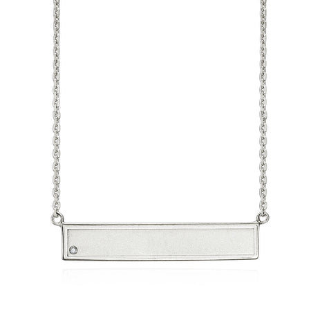 EWP150025 Sterling Silver ID Pendant Necklace